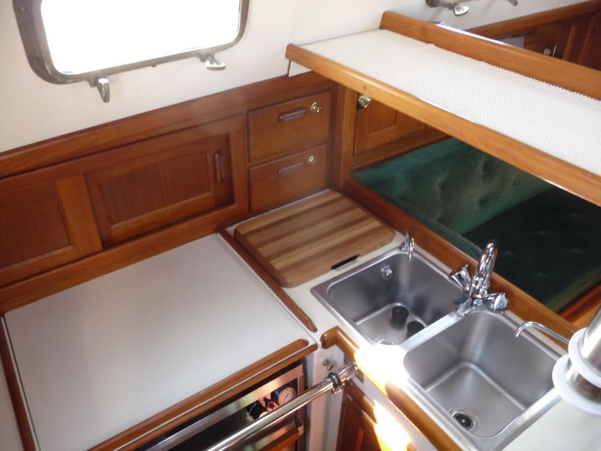 Pacific Seacraft 34 Galley Sink