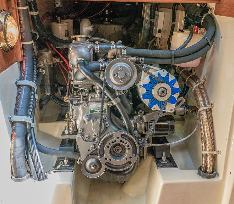 Pacific Seacraft 34 Sailboat Engine