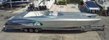 1999 Skater 46 Tall Deck Cabin