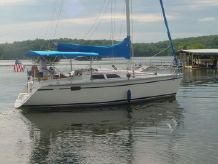 1989 Hunter Open transom, wing keel