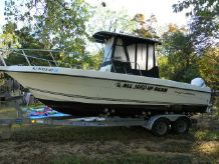 2003 Fish Hawk 233 CC w ENCL AND TRAILER