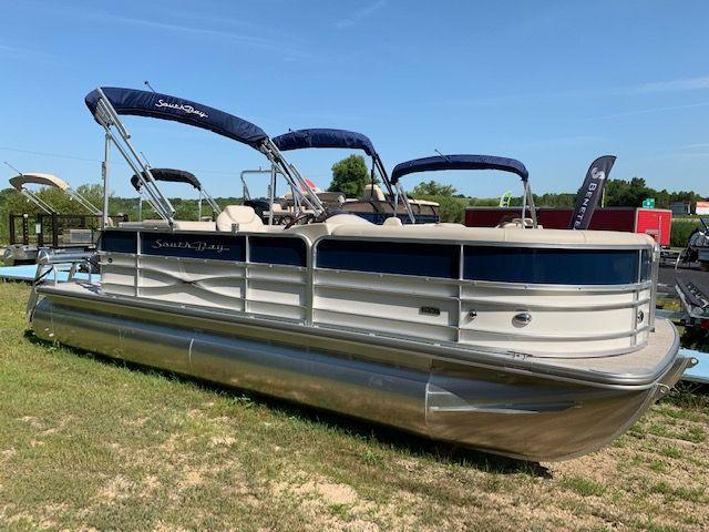 2018 South Bay 222cr Tri Toon Cnvtd Pontoon Boat For Sale