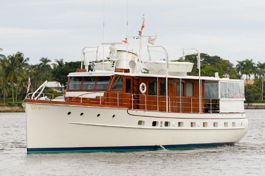 . 1937 Trumpy Mathis House Boat Power Boat For Sale   www yachtworld com