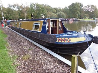 1973 Narrow Boat Colecraft Traditional Stern Hull with fit out by Rugby Boatbuilders